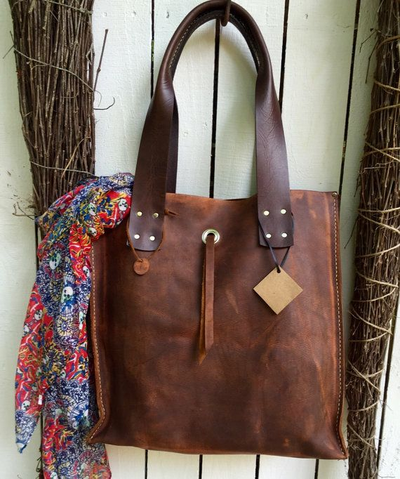 180fba1218c80 Hot Days of June Sale Kodiak Leather Tie Tote* Large Tote ...