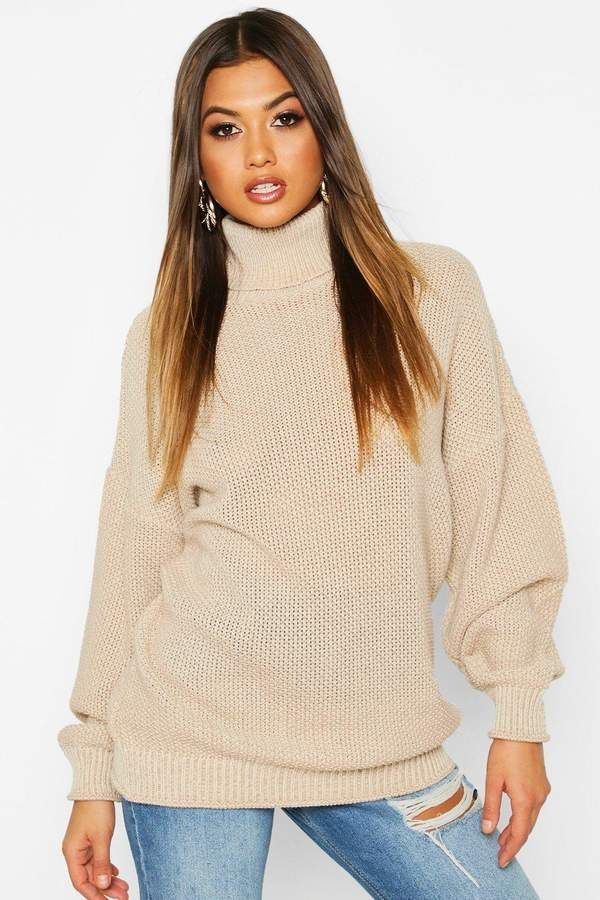 boohoo Two Stone Roll Neck Knitted Jumper