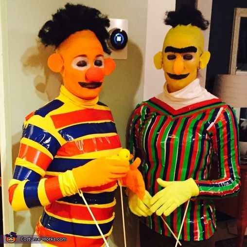 Ernie And Bert With Rubber Duckie Halloween 2007 The Unusual