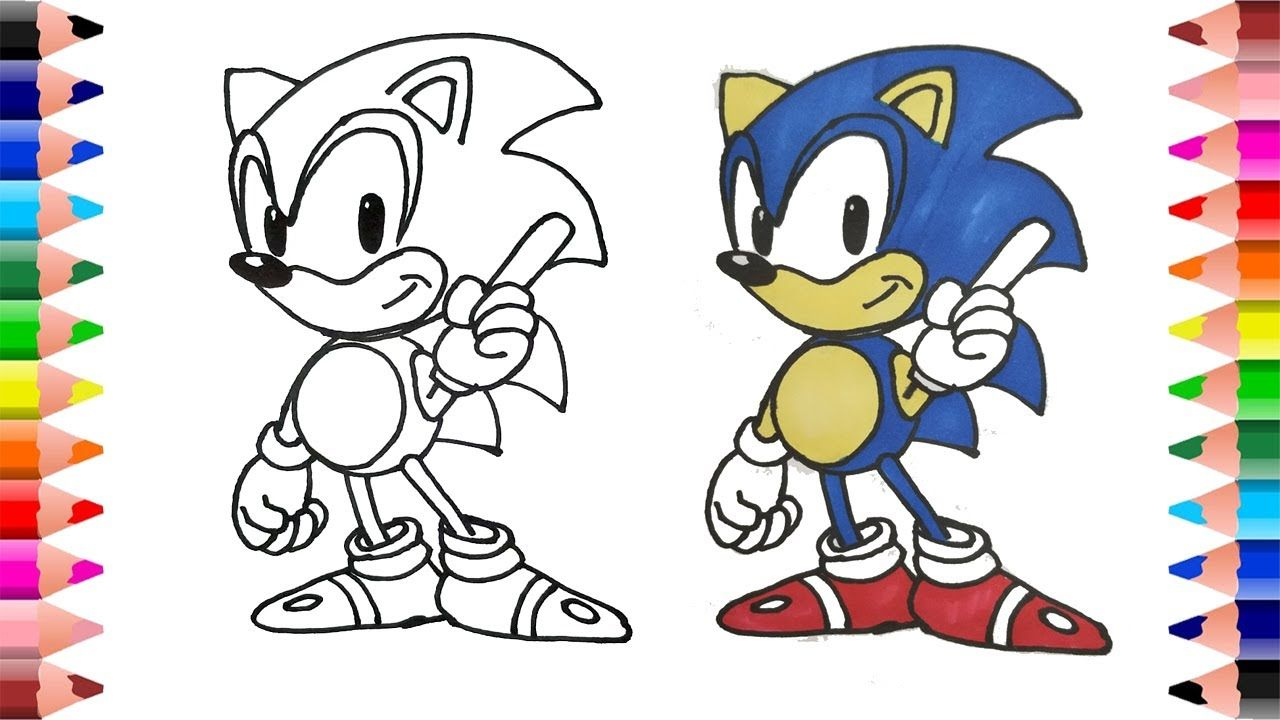Drawing And Coloring Sonic The Hedgehog Coloring For Kids Sonic The Hedgehog Hedgehog