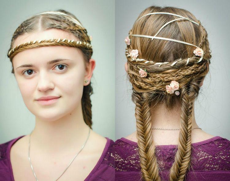 Komplexe Mittelalterliche Frisuren Medieval Hairstyles Braided Hairstyles Womens Hairstyles