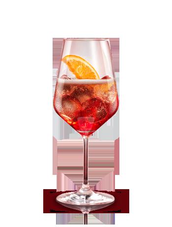 Campari spritz. Preparación: 2 partes Campari - 1 parte Soda - 3 partes Prosecco (vino blanco espumoso). Agitar todos los ingredientes y servir en un vaso lleno de hielo. Decorar con piña fresca. #micoctelcampari