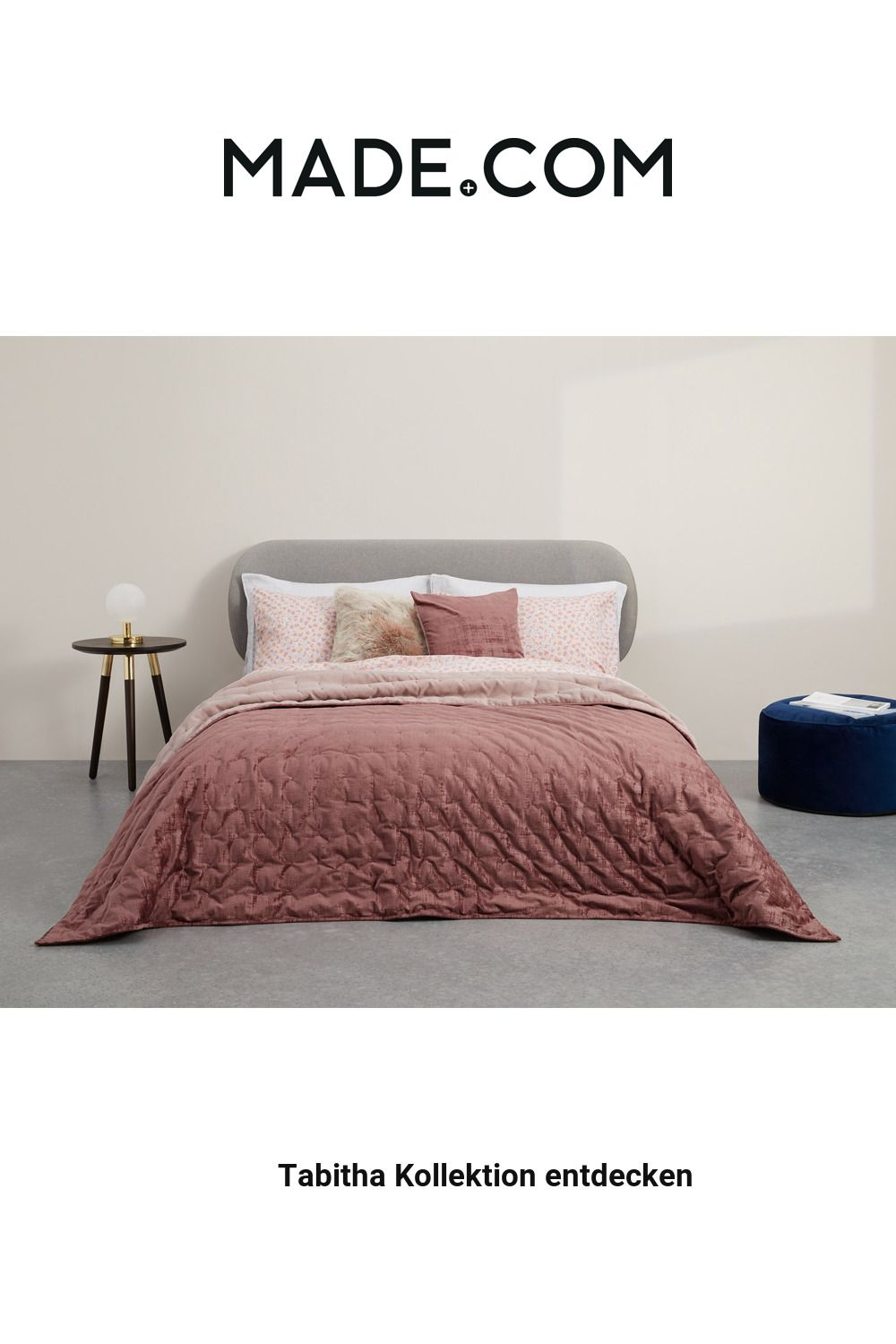 Made Tagesdecke Rosa In 2020 Bed Spreads Pink Bedspread Home Furnishings