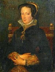 A 19th century painting of Queen Mary I, after the style of Antonis Mor.