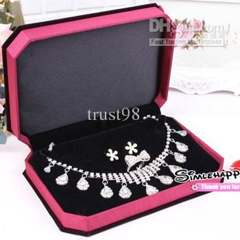 Wholesale Box Buy Jewelry Set Box Necklace Ring Earring Boxes