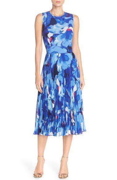 Maggy London Print Chiffon Midi Dress Available At Nordstrom