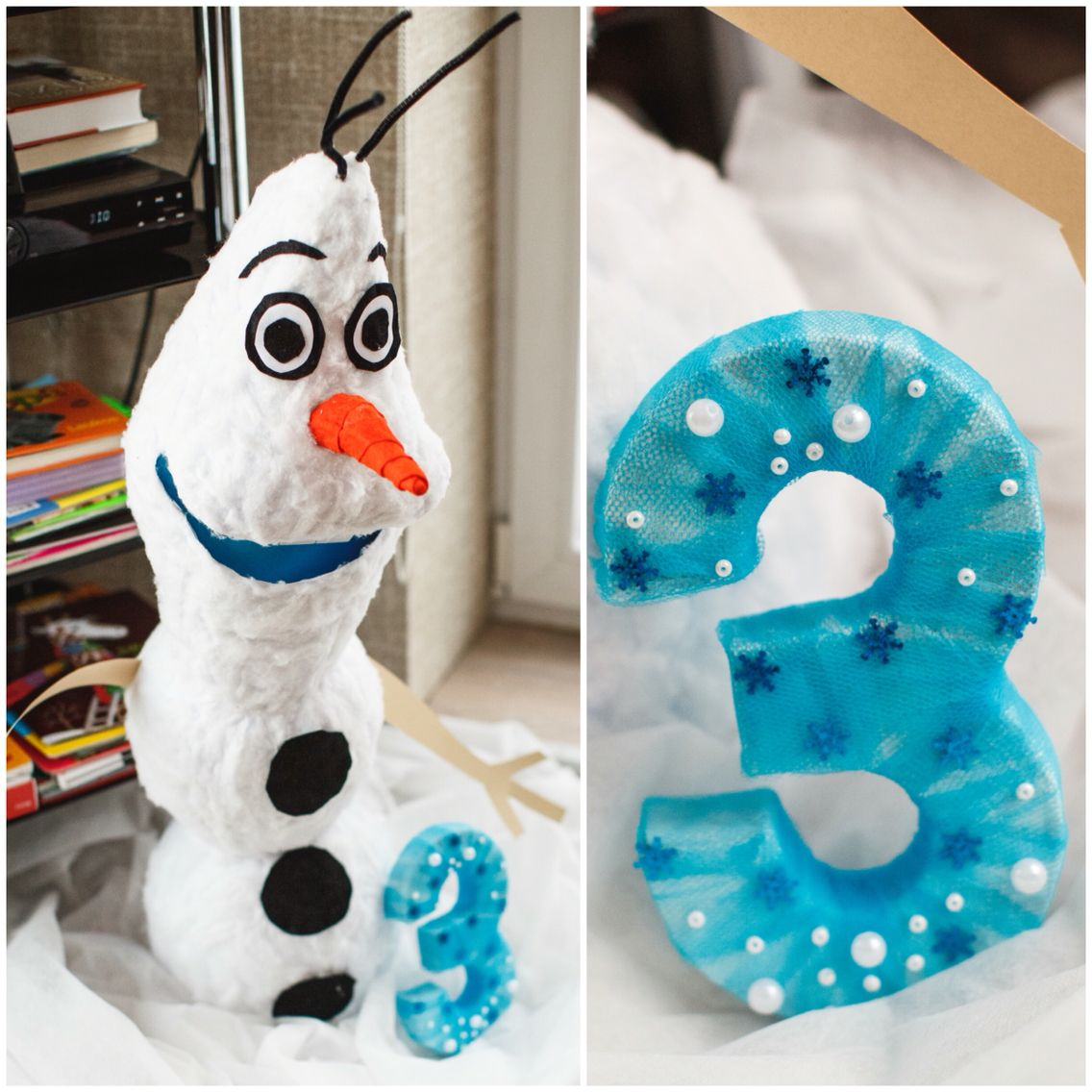 Frozen Themed 3rd Birthday Party Decoration