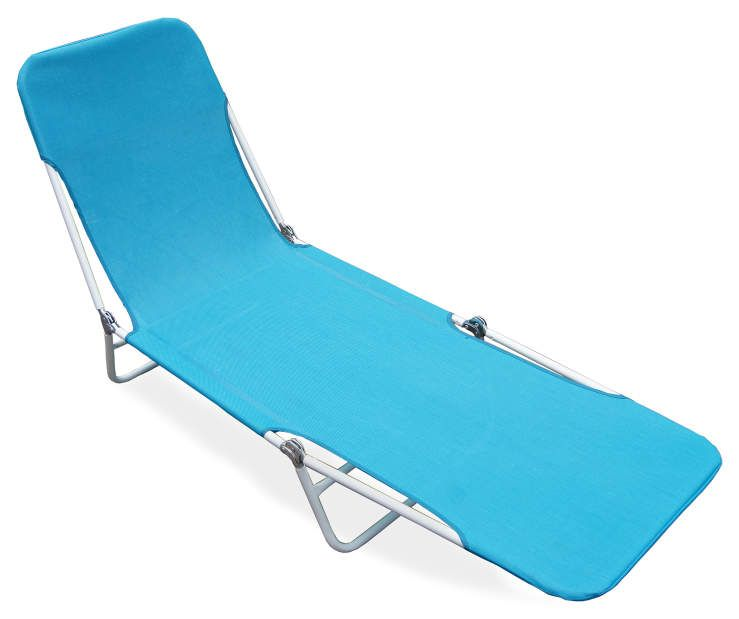 Best Wilson Fisher Blue Sling Folding Patio Lounger 400 x 300