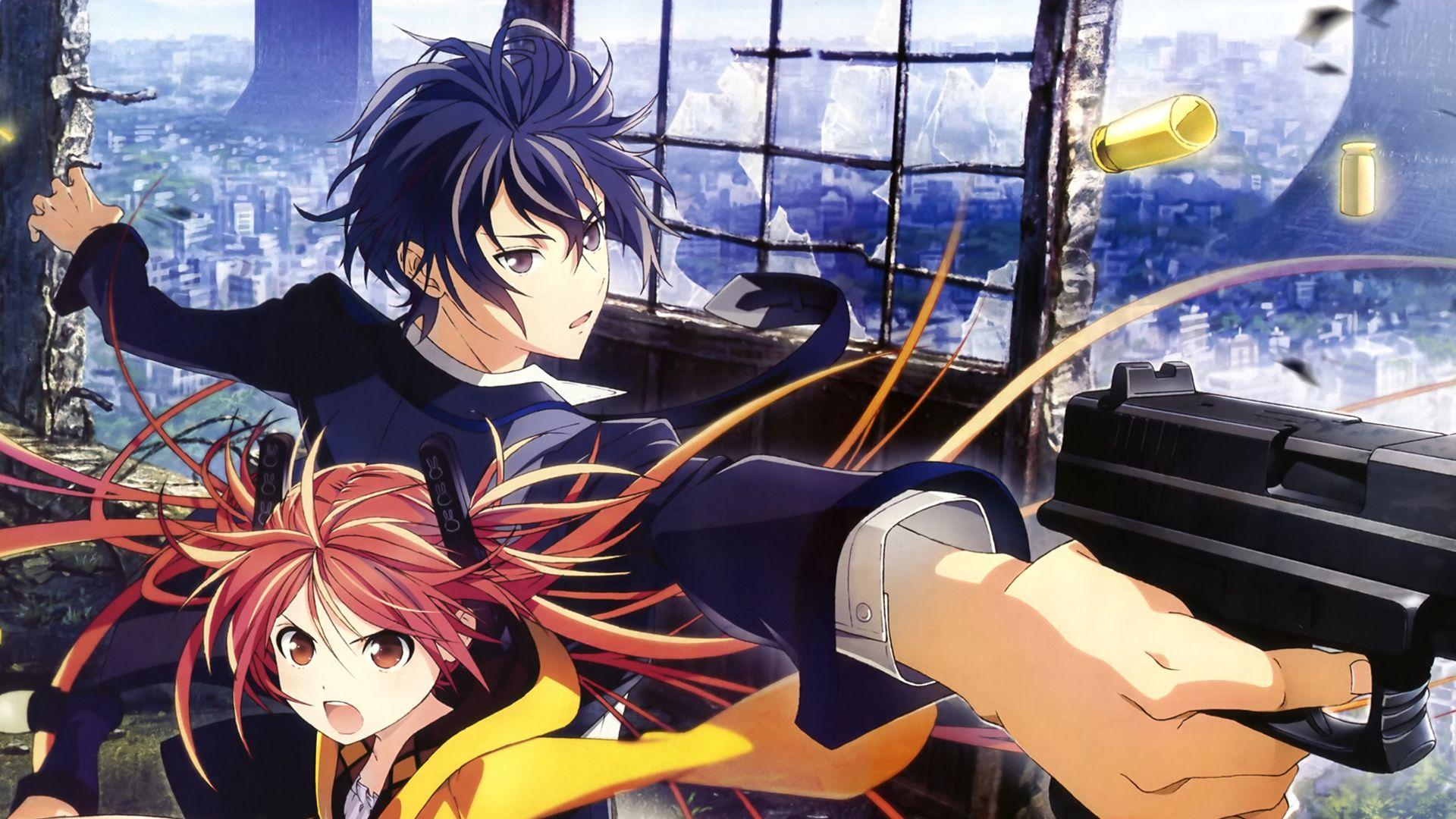 Black Bullet 9 Bala preta, Papel de parede anime, Anime