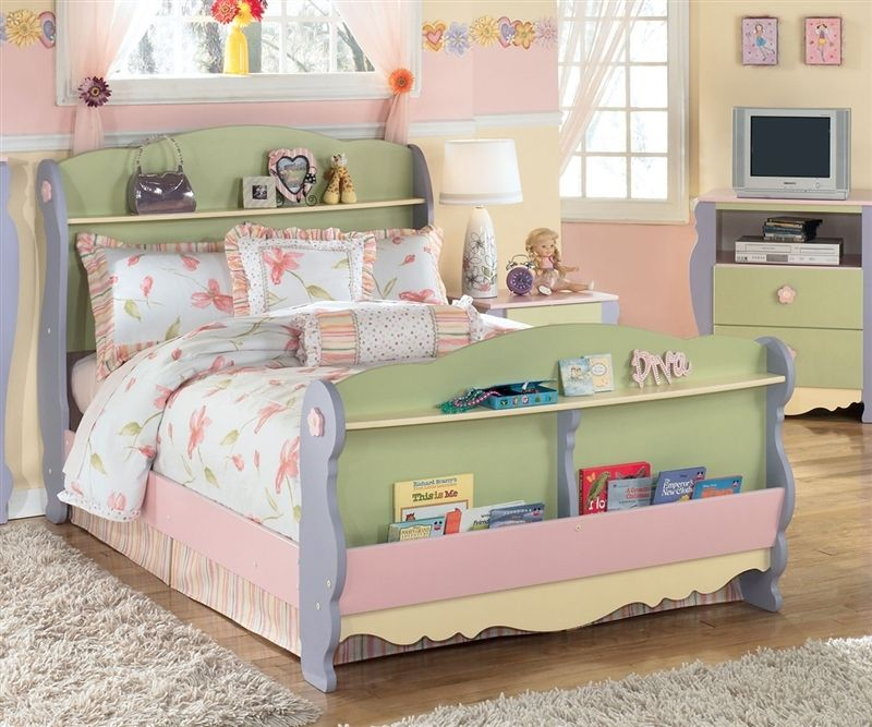 Doll House Sleigh Bed Full Size Kid Beds Kids Headboard Cool
