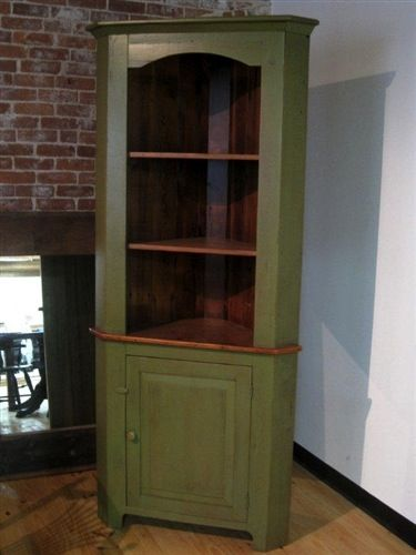 Open Face Farmhouse Corner Cabinet  For the Home