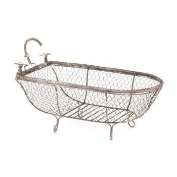 Metal Bathtub Basket | Bathtubs, Bathroom accents and Metals