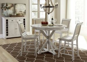 40+ White round counter height dining set Various Types