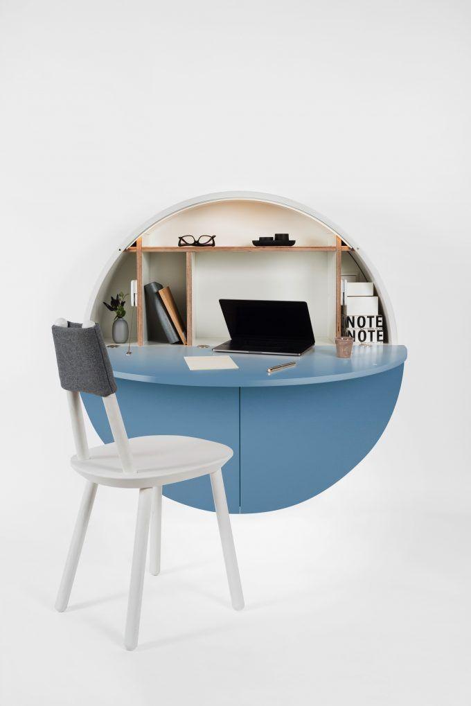 Bureau Pliable Pour Petit Espace 10 Meubles Design A Petit Prix Clematc Bureau Pliable Meuble Design Bureau Mural Rabattable