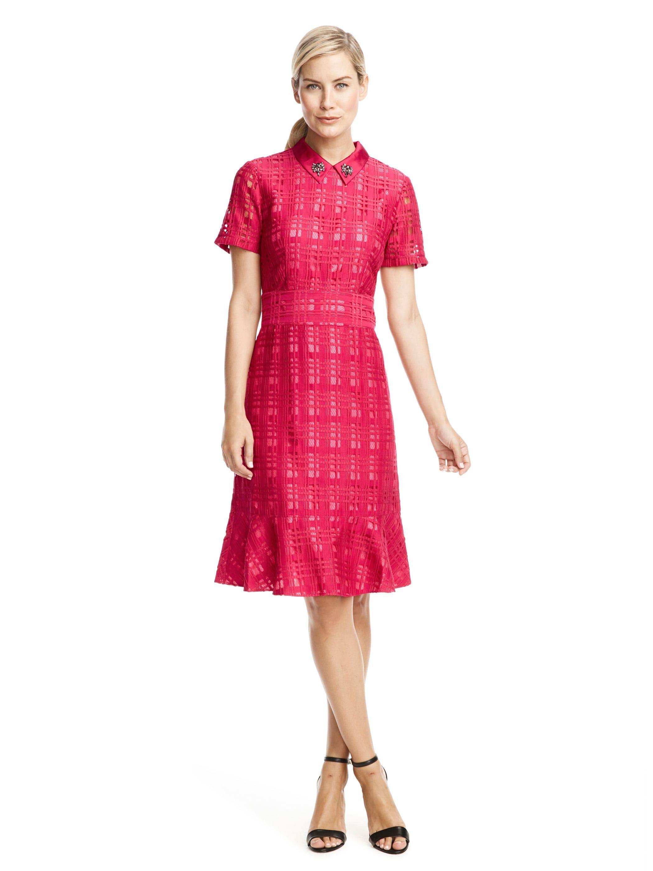 Cranberry Lace Dress | Draper James