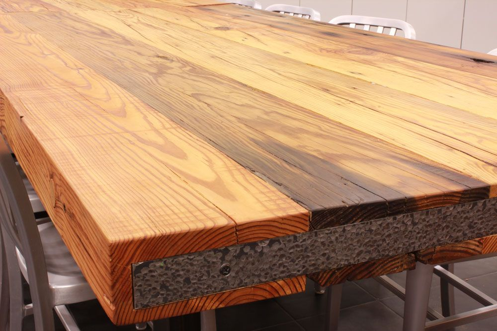 Reclaimed Heart Pine Table Top Wood Countertops Countertops Rustic Countertops