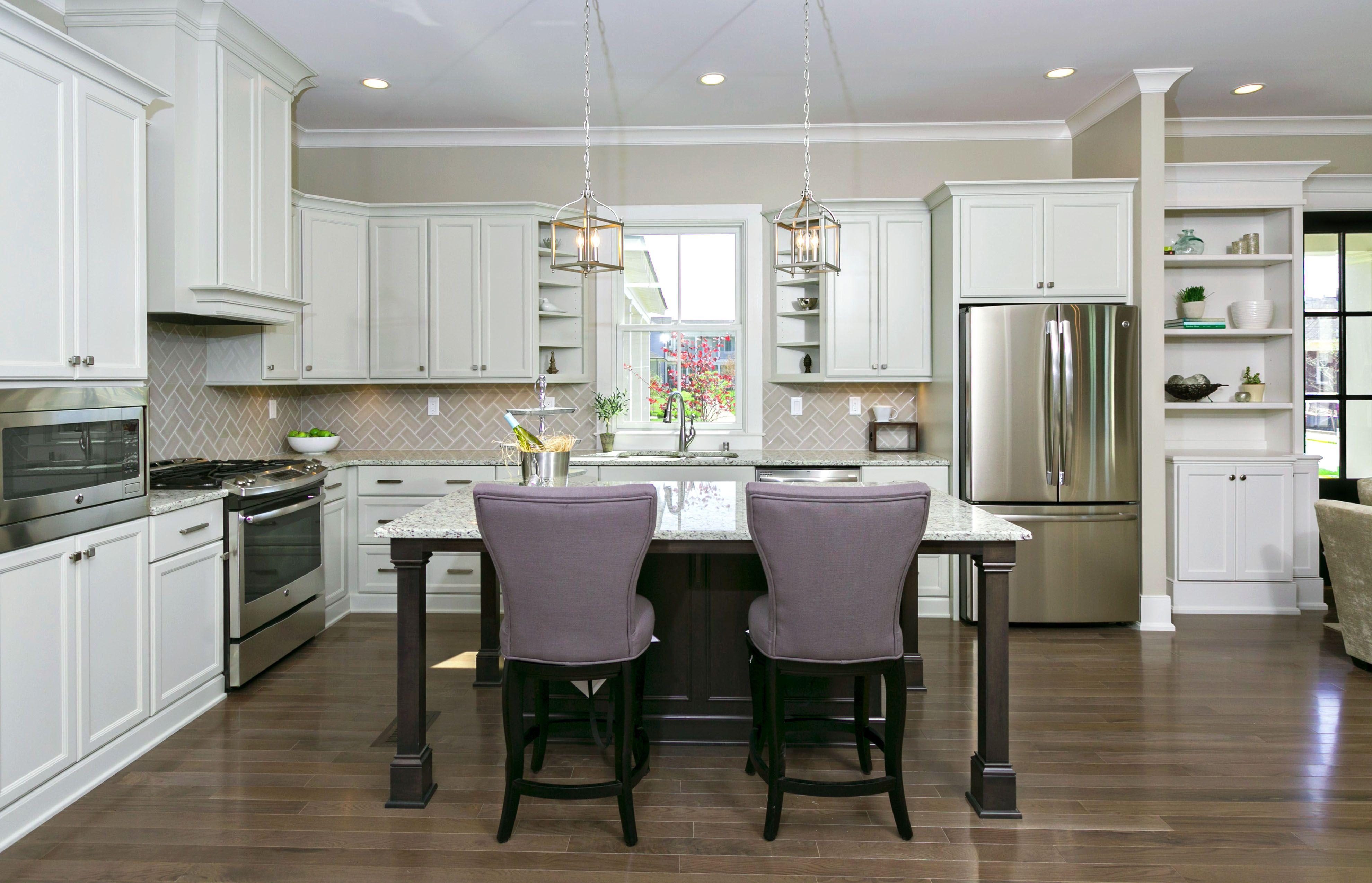 Best Kitchen With Gray Herringbone Backsplash Carrera 640 x 480