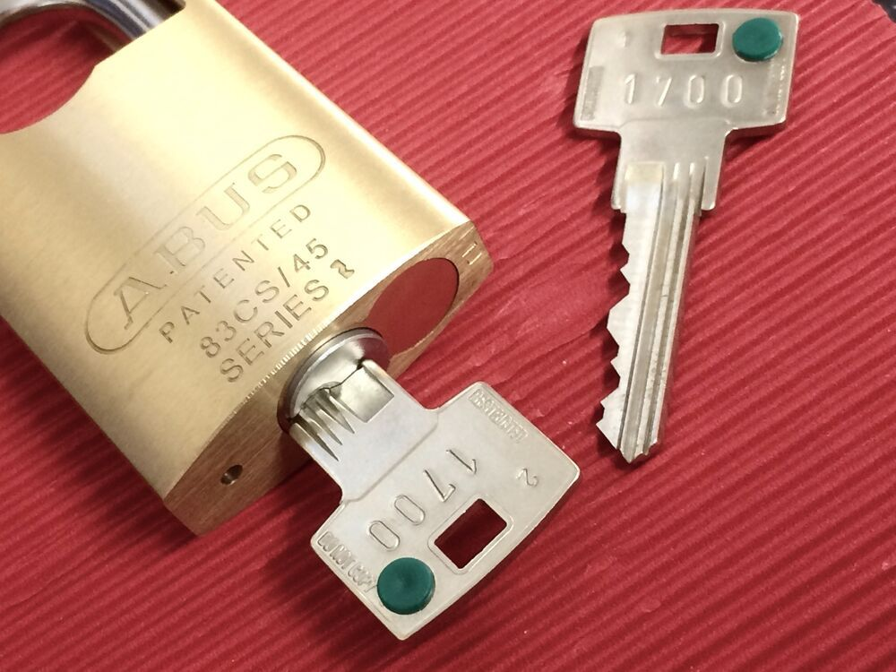 Abus 83cs45 Padlock Fitted With Secure 6 Inline Keying System Amp Restricted Keys Padlock Key Safe Lock