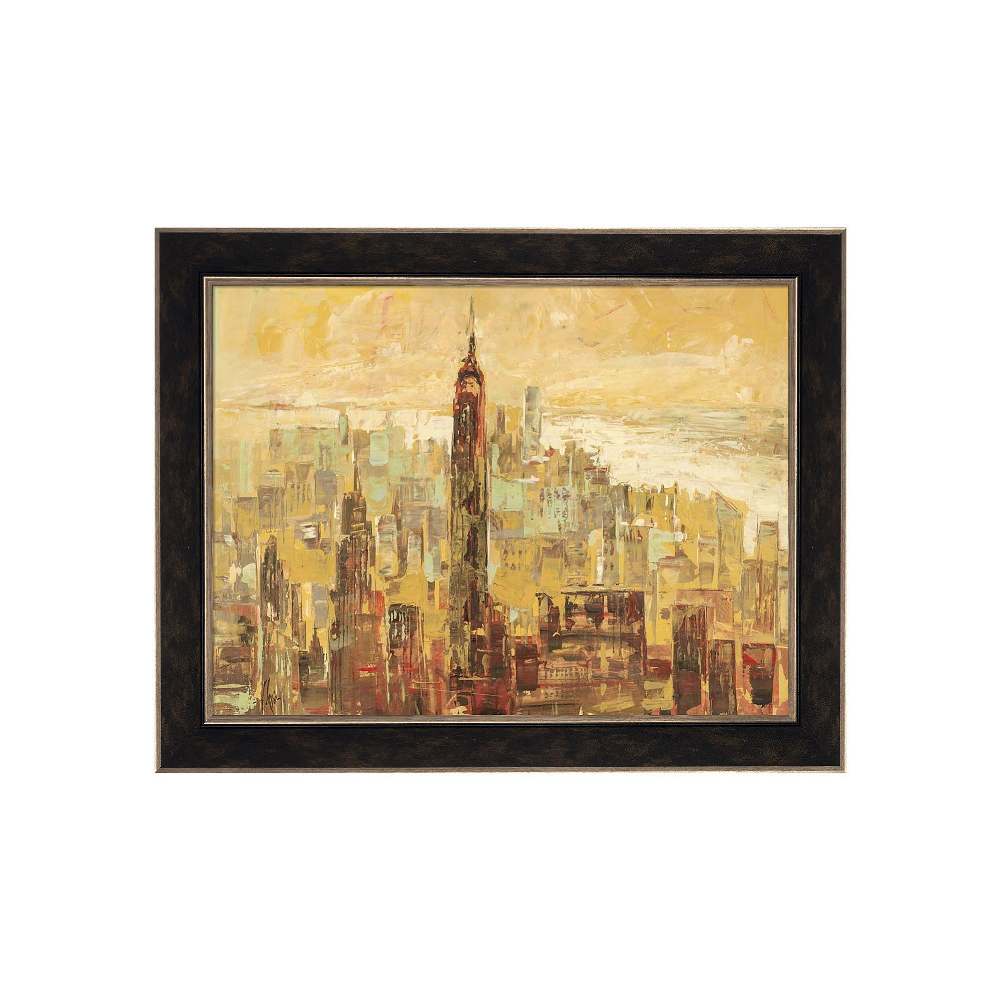 Metaverse Art Tramonto su Manhattan Framed Canvas Wall Art ...