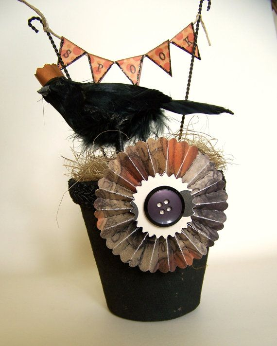 Vintage Halloween Decoration Vintage Crow Halloween Crow Vintage - vintage halloween decorations