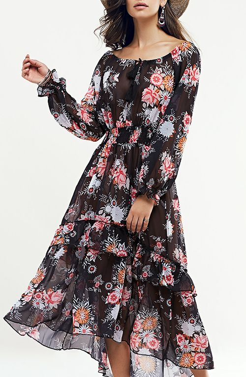 5d5ada5acc0 Bohemian Floral Swingy Maxi Dress