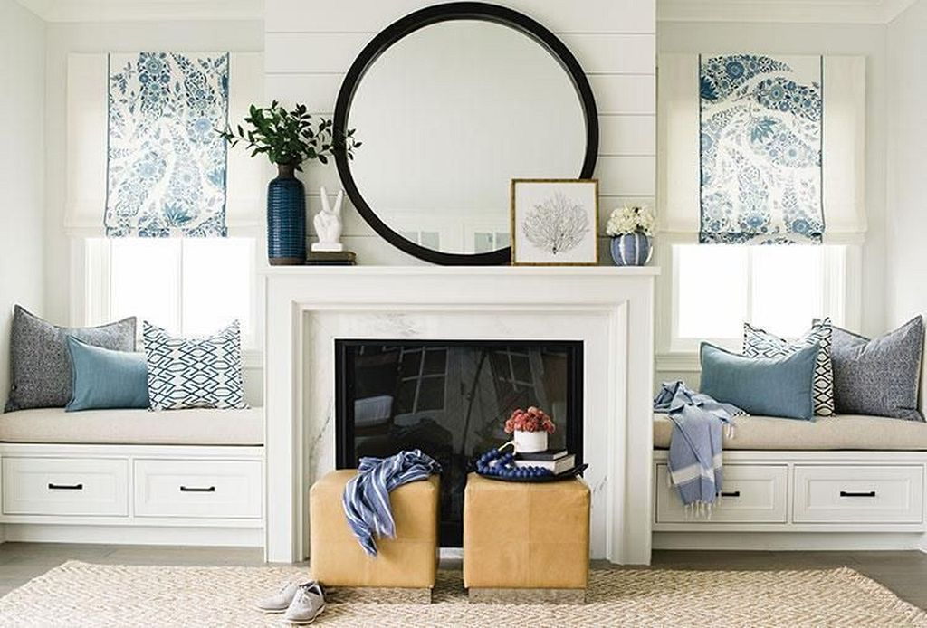20 Round Mirror Over Fireplace Ideas You Can Try At Your Home Mirror Over Fireplace Fireplace Mantle Decor Fireplace Mantel Decor