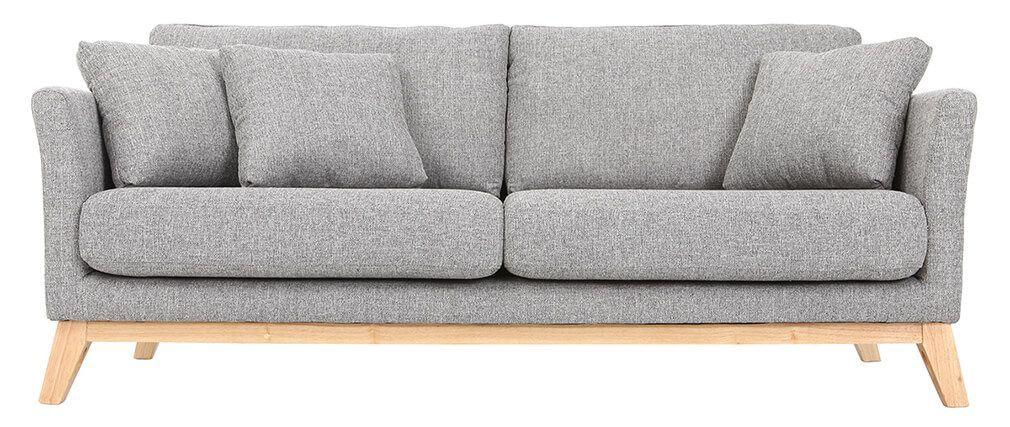 Sofa skandinavisch 3 Plätze Hellgrau Holzbeine OSLO | Interior ...