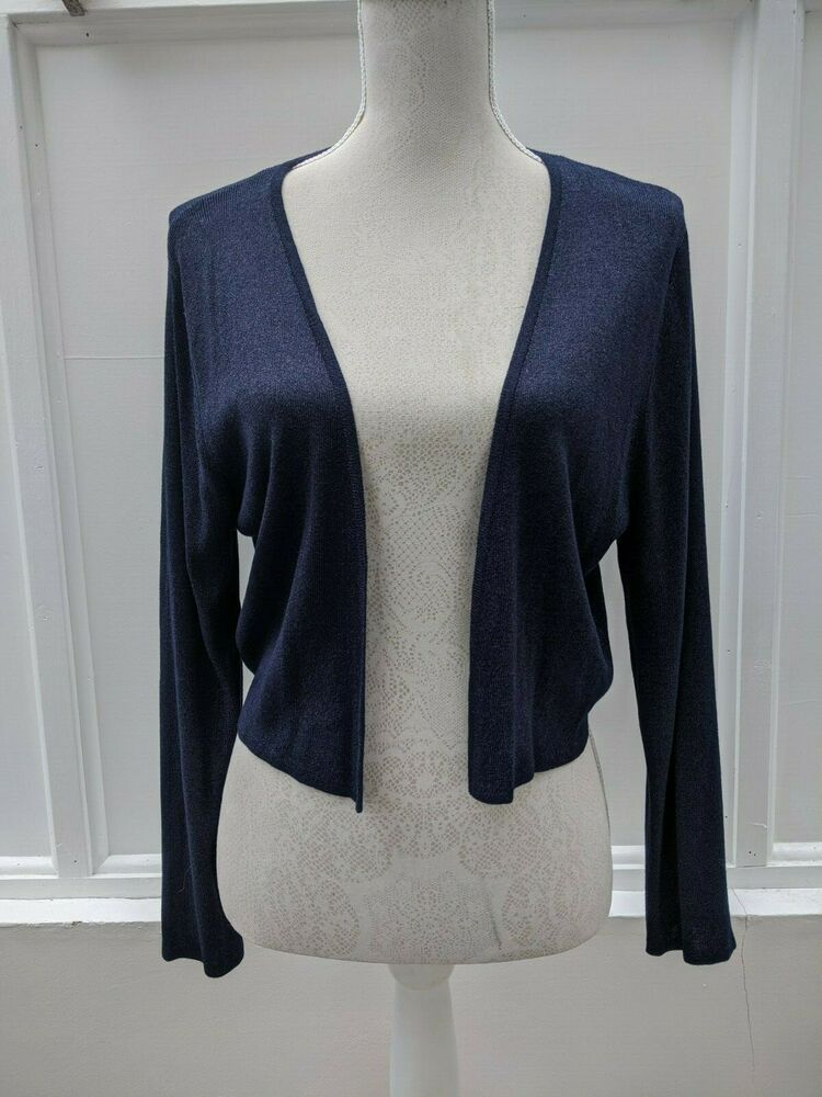 Monsoon Shrug Navy Blue with a Sparkle Size Large (416