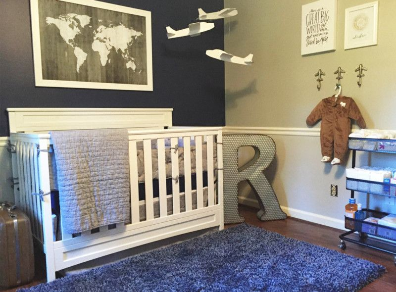 Sky S The Limit For This Adorable Airplane Nursery Love World Print Cole Room