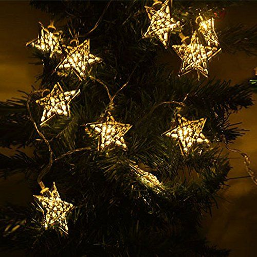 Special Copper Wire Hollow Out Star Christmas Decoration Fairy ...