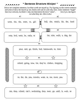 Printables Building Sentences Worksheets building sentences worksheets davezan printables safarmediapps