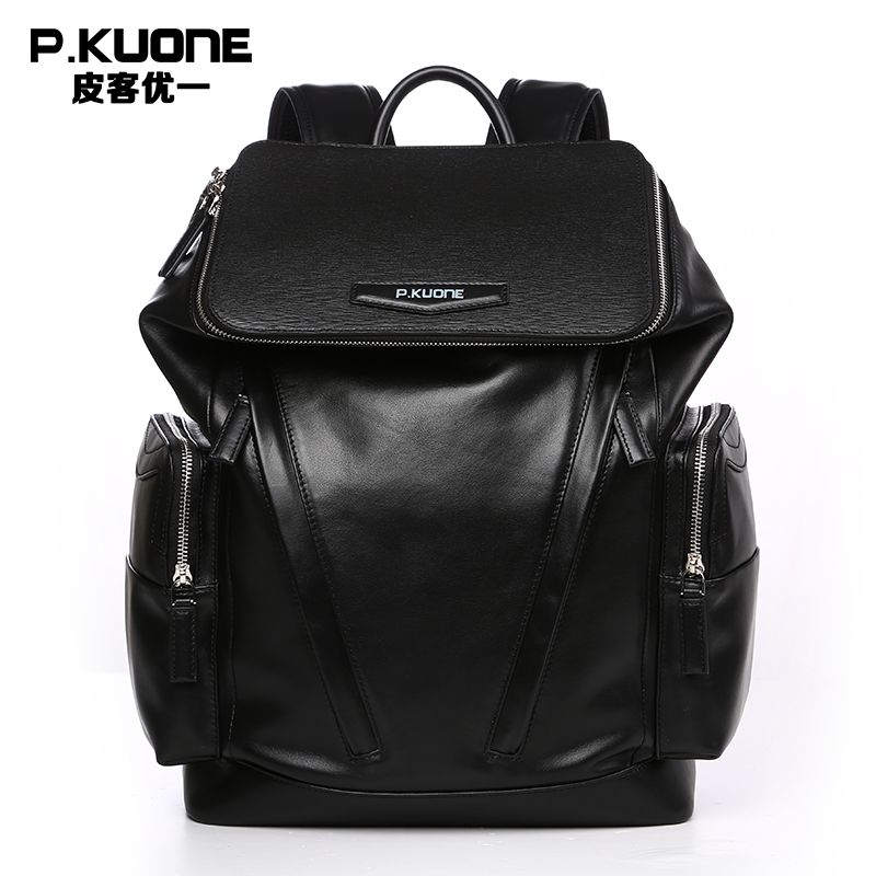 Fashion Designer Genuine Leather Backpacks For Men School Bags ...