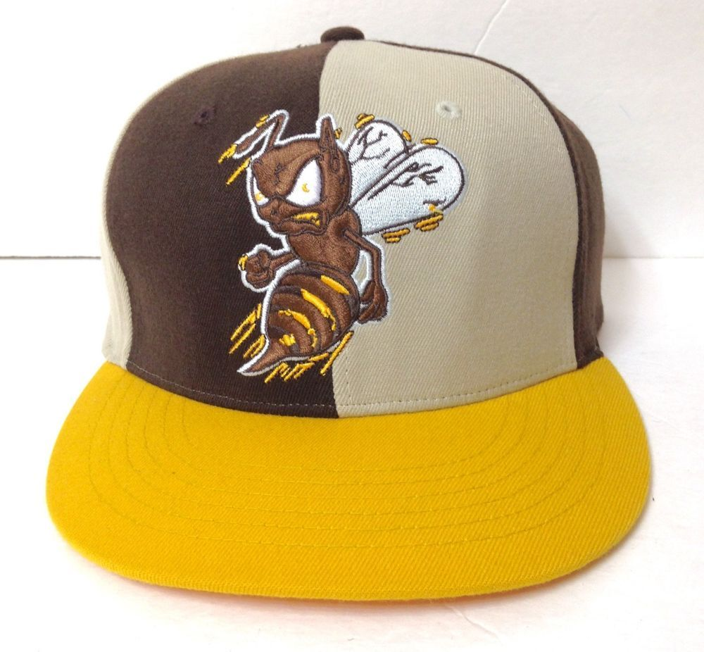New tiny defect  AKADEMIKS BLACK HORNETS HAT Flex Fit OSFM Yellow Brown  Beige  BeautifulGiant  BaseballCap 5a647213e517