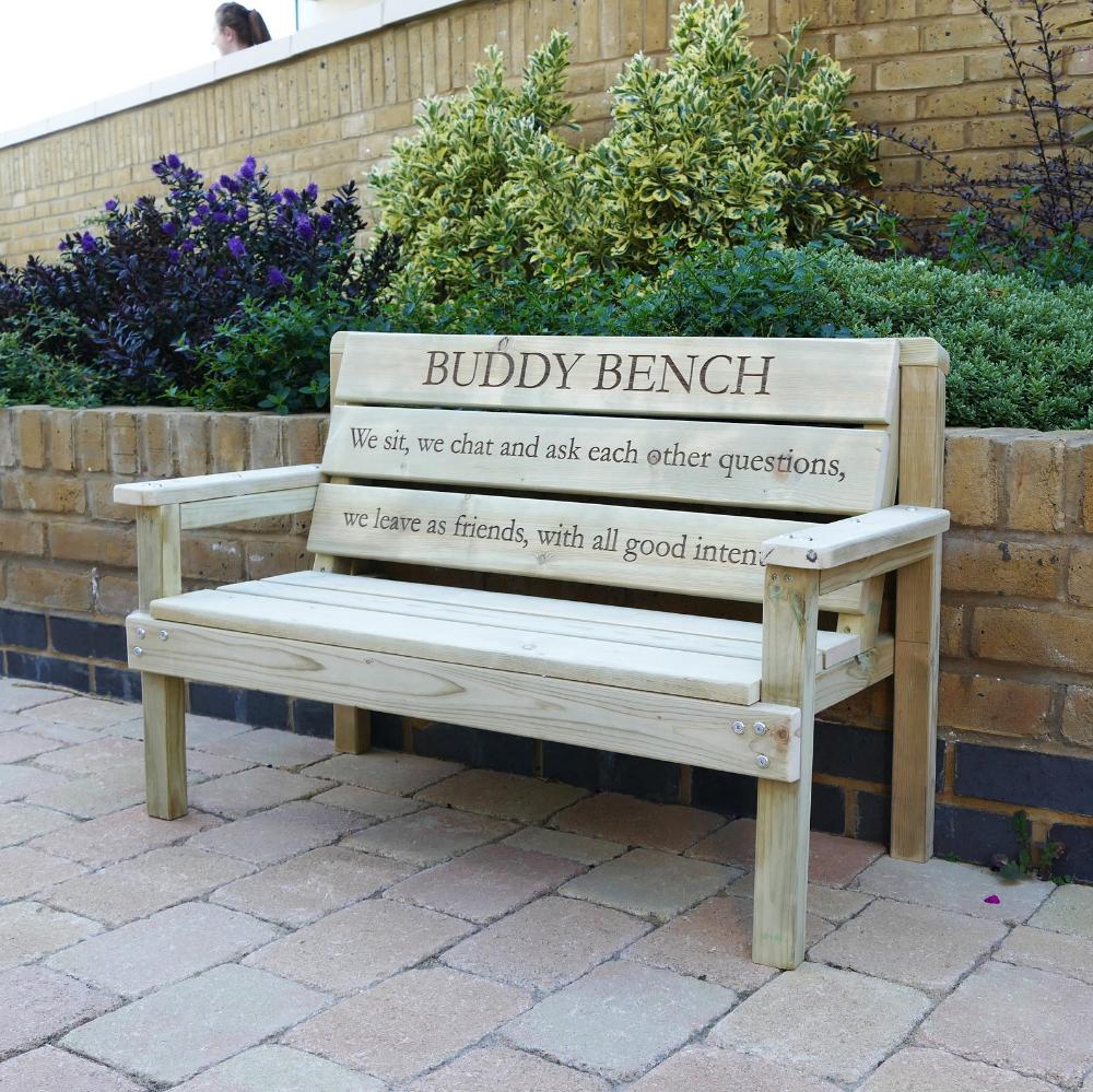 Buddy Bench Friendship Bench School Benches Childrens Etsy In 2020 Buddy Bench Bench Childrens Benches
