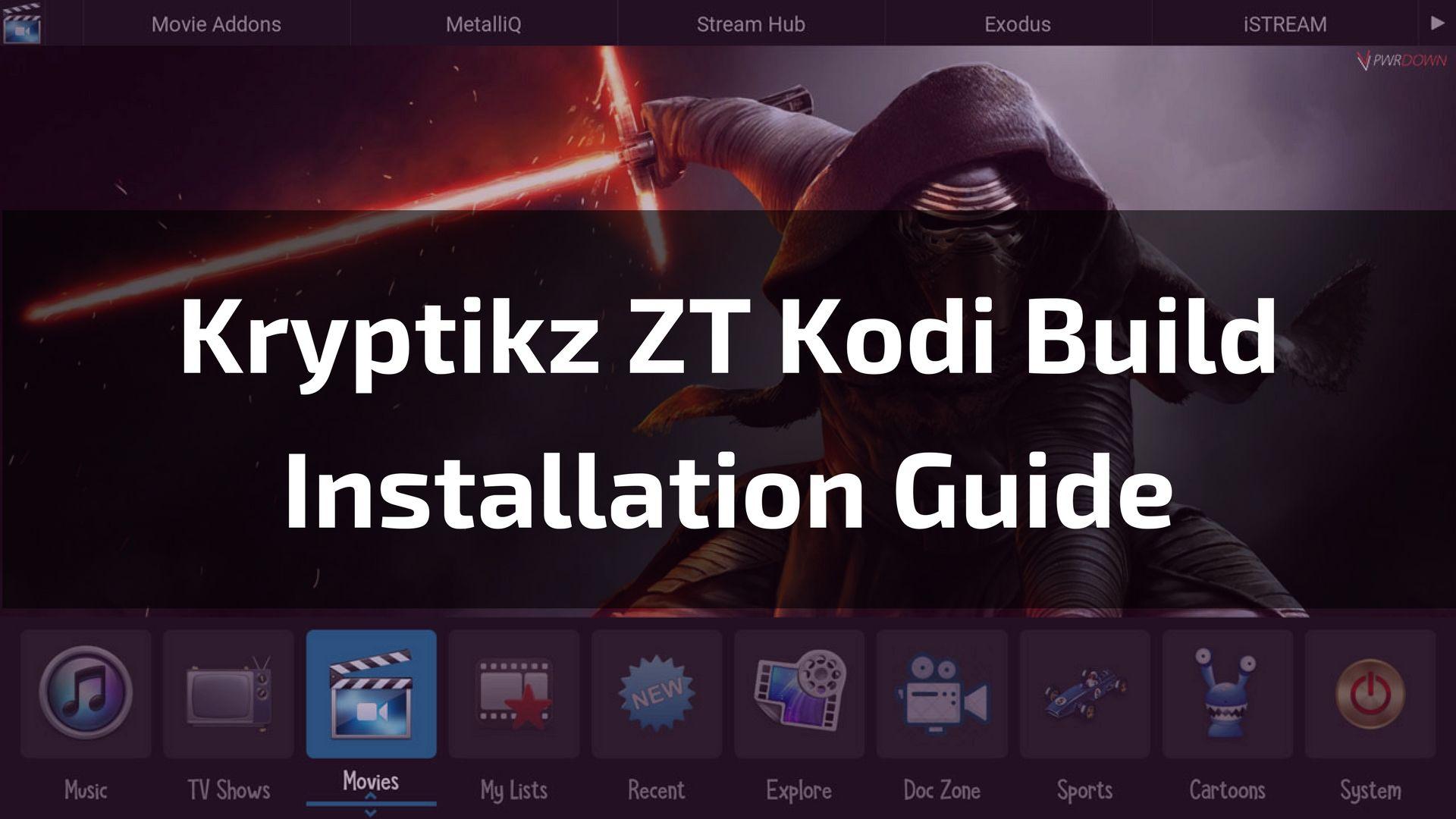 Kryptikz ZT Kodi Build A Build That Packs a Whole Lot of