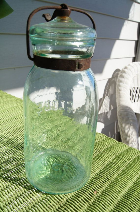 Antique Globe Canning Jar From 1886 In Excellent By