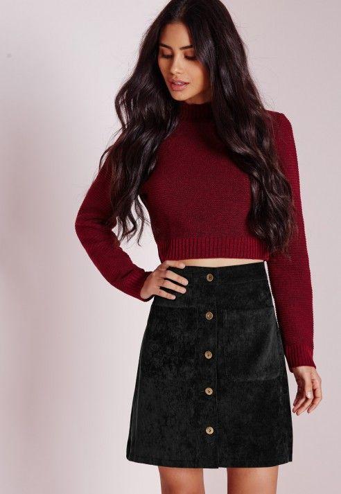 3ae2e38dfb cord button a line mini skirt | Shop.clothes_shoes | Mini skirts ...
