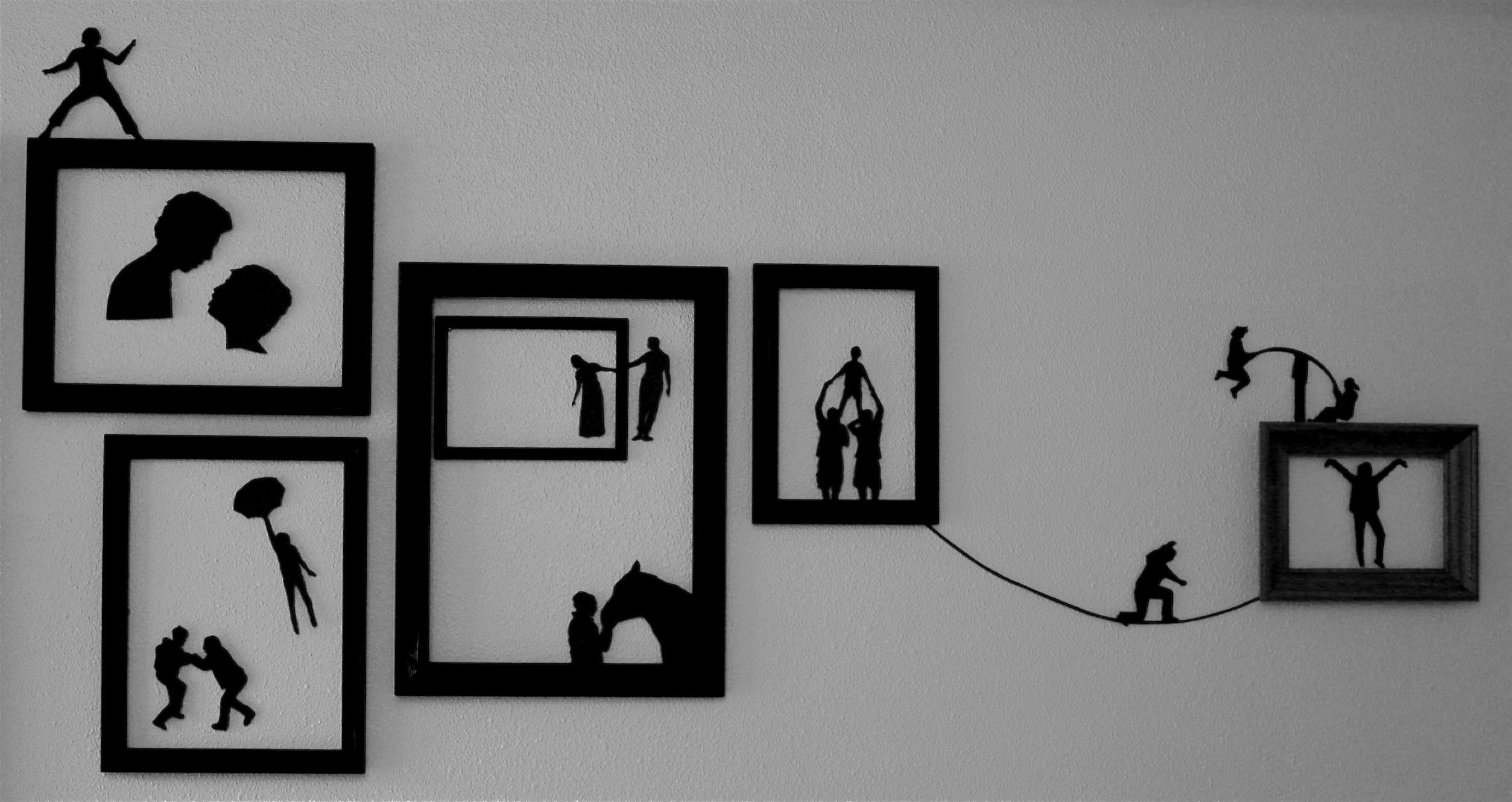 This prevents the silhouettes from puckering when you mount them on wall and also adds  little dimension diy silhouette art pinterest rh