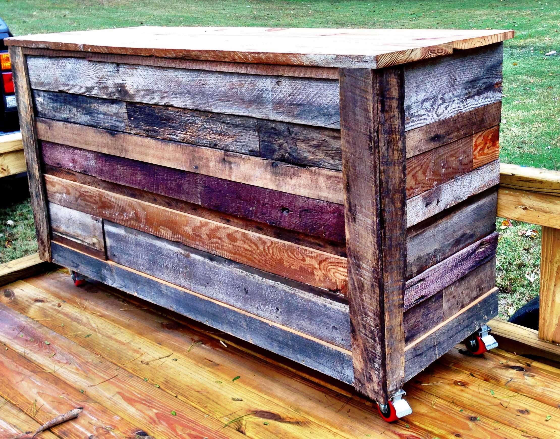 Pallet Mobili ~ Reclaimed barnwood coffee bar :: contact us at create