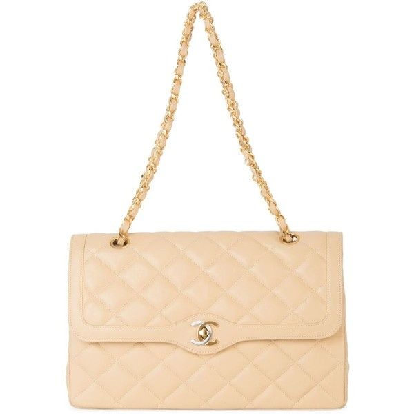 Chanel Vintage Double Flap Shoulder Bag ($3,983) ❤ liked on Polyvore featuring bags, handbags, shoulder bags, vintage purse, quilted chain shoulder bag, quilted purse, chanel and vintage handbags