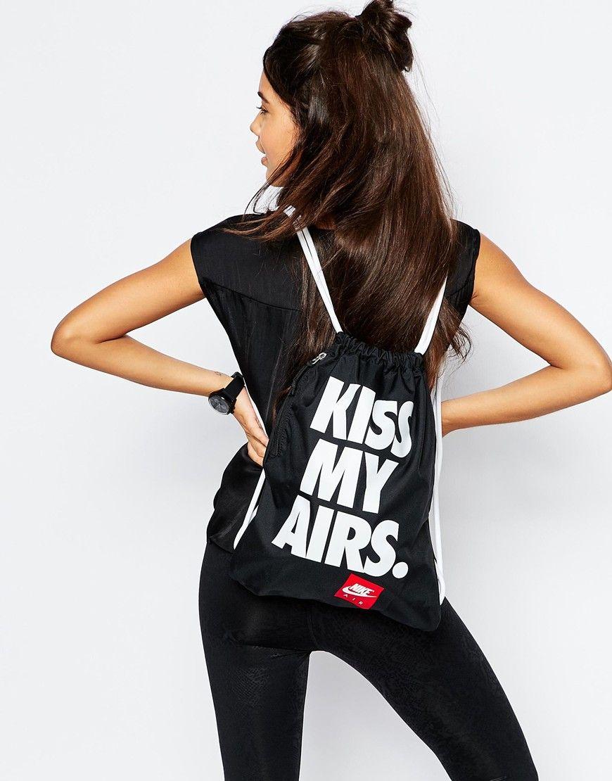 genéticamente Parámetros Red  Nike Kiss My Airs Gymsack at asos.com | Fitness fashion, Nike, How to wear