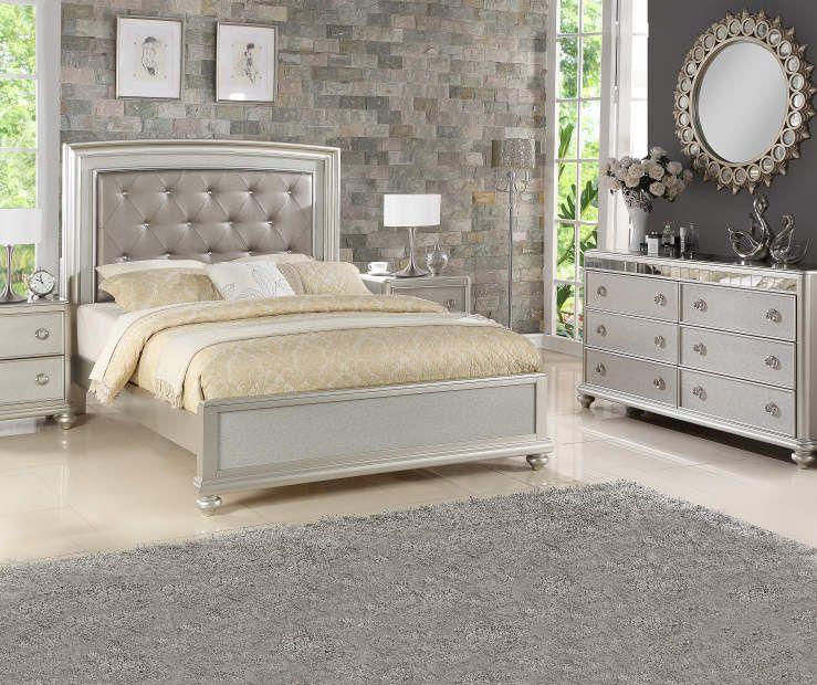 Gemma Platinum Queen Bed Headboard, Stratford Gemma Platinum Queen Bed
