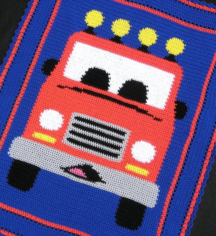 GOOD STUFF TRUCKS BRING IT Crochet Graph//Chart Afghan Pattern Crochet Patterns