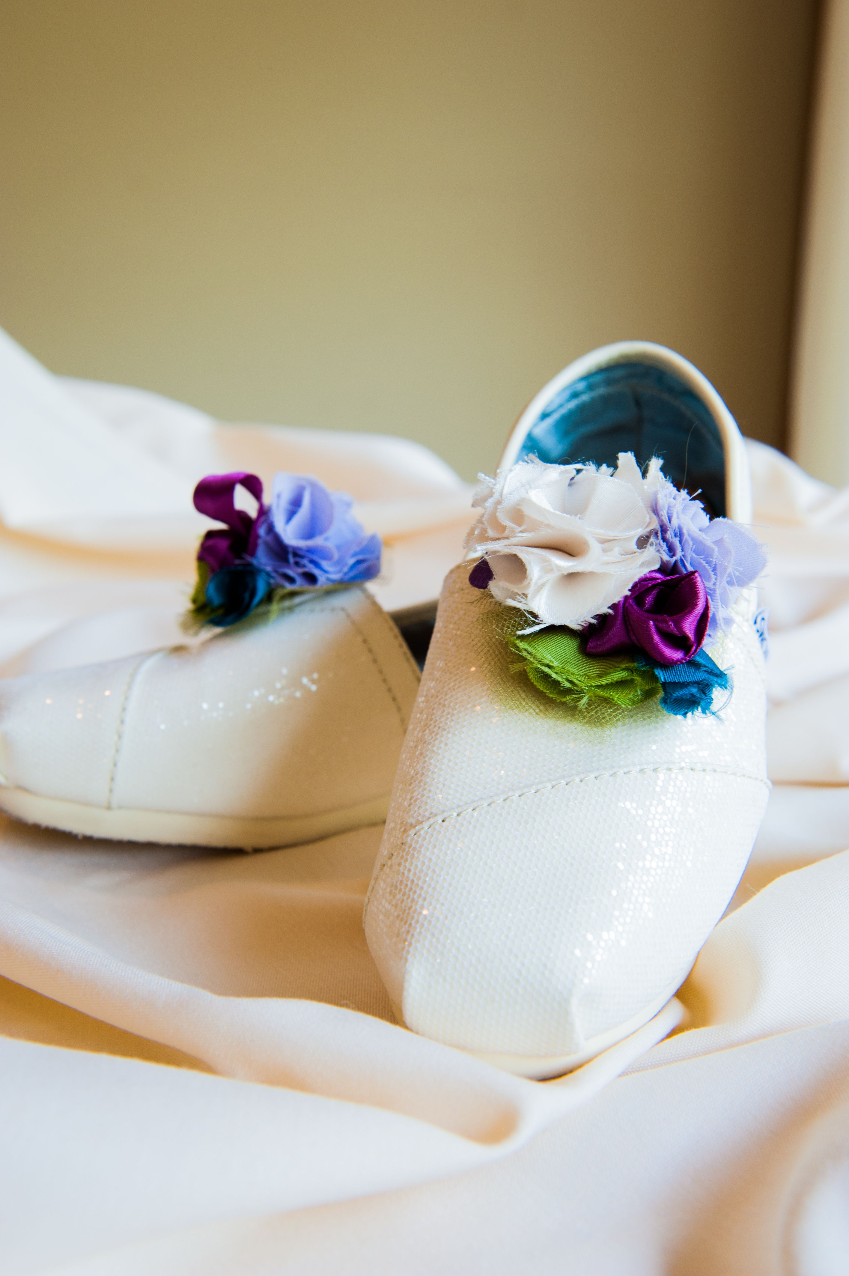 The Shoe Clips I Made For My Wedding Toms Photo By Bobby Strange
