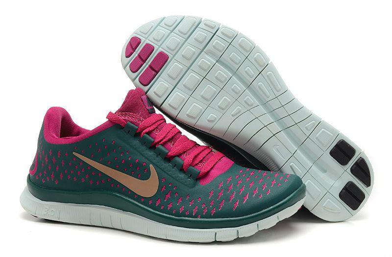 newest 5f109 6deb2 Womens Nike Free 3.0 V4 Grey Peach Gold Shoes