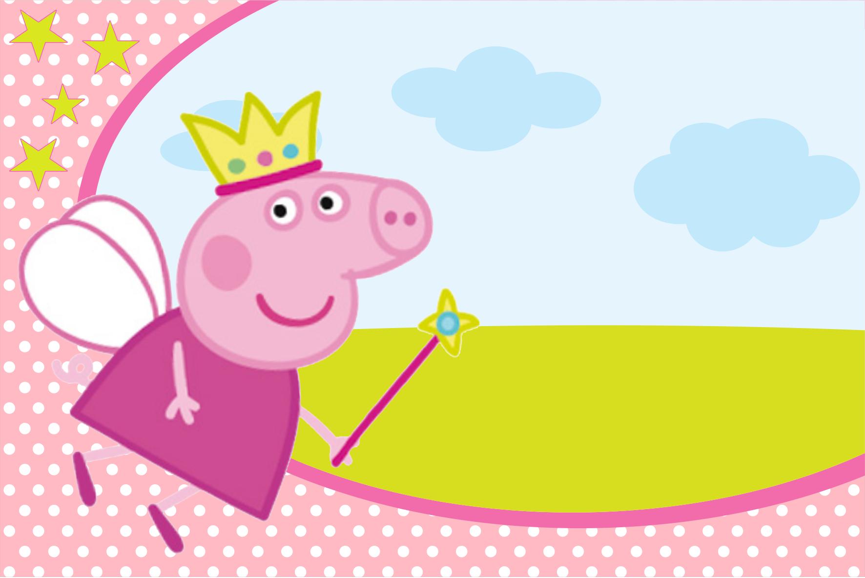 Convite Peppa Pig Prontos Para Editar E Imprimir