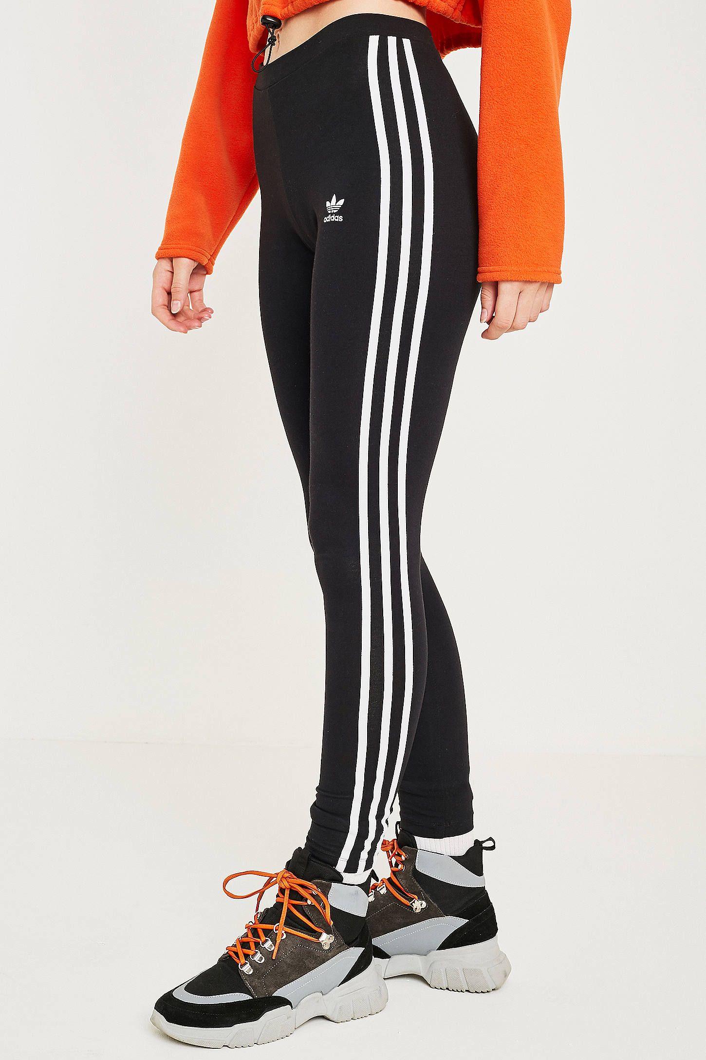 adidas 3 Stripes Leggings Black | adidas UK