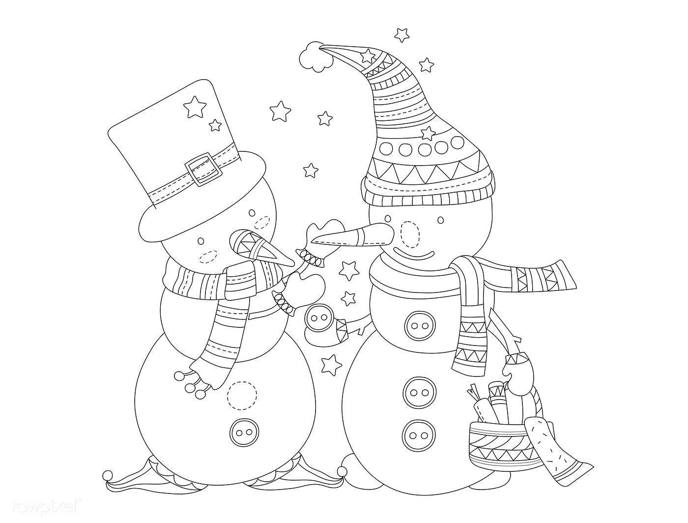 Snowman vector free image by Adult