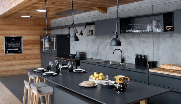 Cuisine noire  des photos déco pour s\u0027inspirer - meuble de cuisine gris anthracite