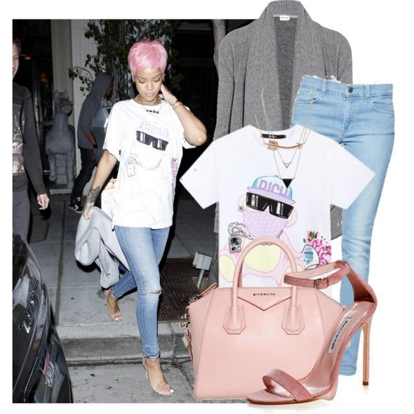 368. Celeb Style: Rihanna by coolstorymelissa on Polyvore featuring mode, Splendid, French Connection, Givenchy, House of Harlow 1960, Aamaya by priyanka, Joyrich, Manolo Blahnik, women's clothing and women's fashion